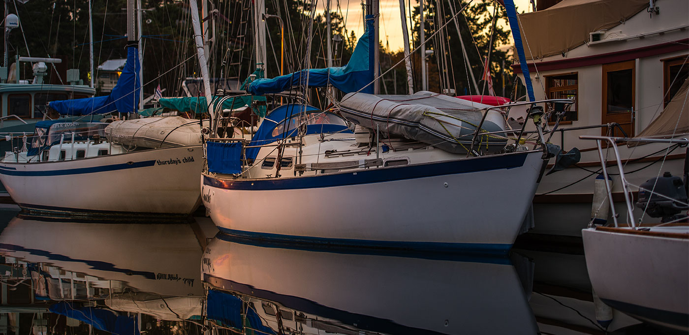 Sailboats in Ganges Harbour, BC