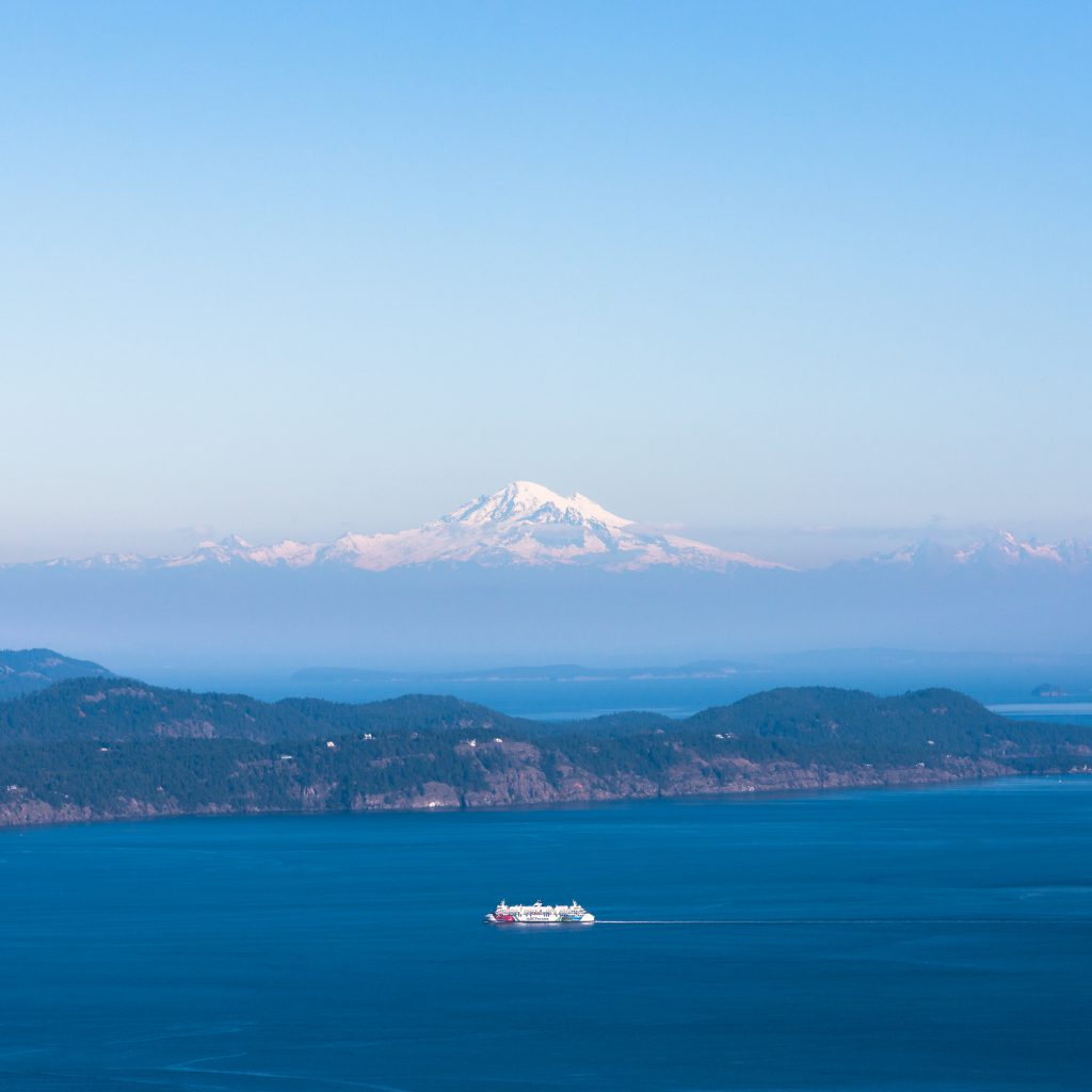 View of Mount Baker from Salt Spring Island
